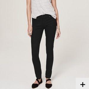 LOFT Black Modern Skinny Jeans